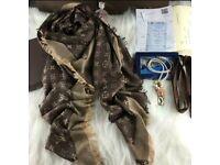 Louis Vuitton scarf (brown ,blue ,black)