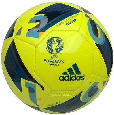 ADIDAS EURO16 FUSSBALL BEAU JEU GLIDER EURO 2016 EM 2016 BALL GELB BLAU GR.5 (Euro Glider Fußball-ball)