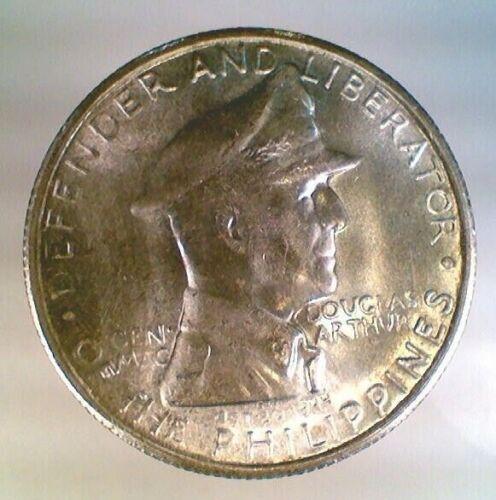 BU 1947-S Philippines One Peso MacArthur Silver (004)