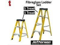 JEFFERSON 3 & 5 TREAD FIBREGLASS STEP LADDER BUILDERS ELECTRICIANS
