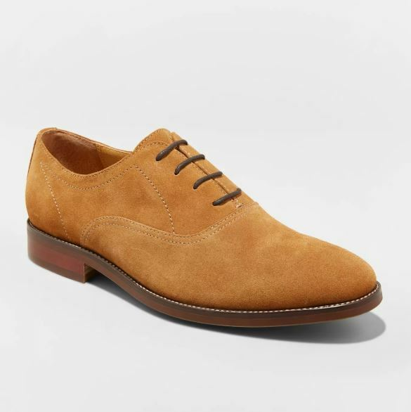 Men's Gracin Suede Oxford Dress Shoes - Goodfellow & Co Tan 10.5, Brown