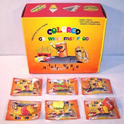 Food Novelties - 6 MAGIC GROWING FAST FOOD wholesale novelties tricks MAGIC grow novelty toy new