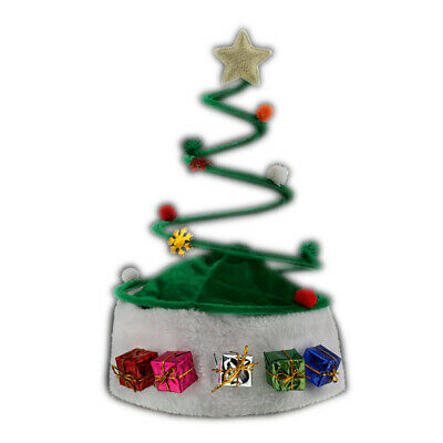 Silly Springy Costume Party Christmas Tree Plush Santa Hat - Silly Santa Hats