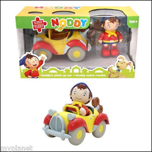 BANDAI OFFICIAL NODDY FIGURE WITH CLICK CLACK TAXI WIND UP KIDS TOY FUN CAR NEW