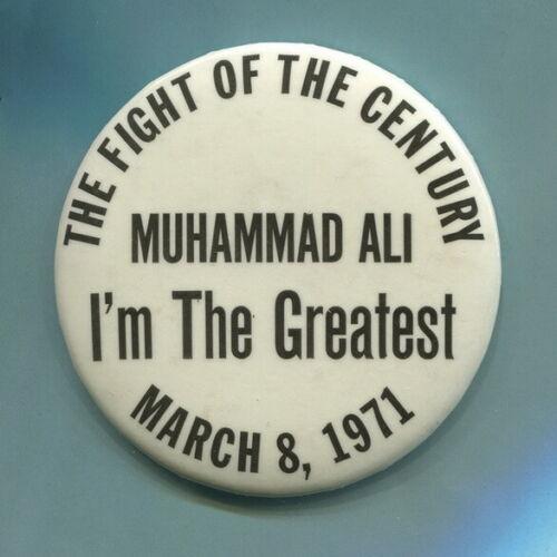 1971 Muhammad Ali  Fight of the Century  anti Vietnam War Civil Rights Cause Pin