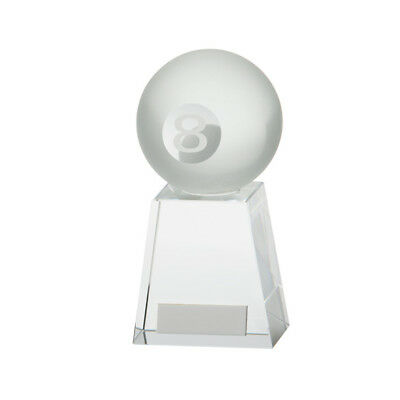 Voyager Pool Ball Trophy Award Premium Crystal FREE Engraving BEST SELLER! ()