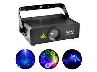 SUNY RGB 400mW Laser SD Card Program Source ILDA 24 CH DMX Animation Projector