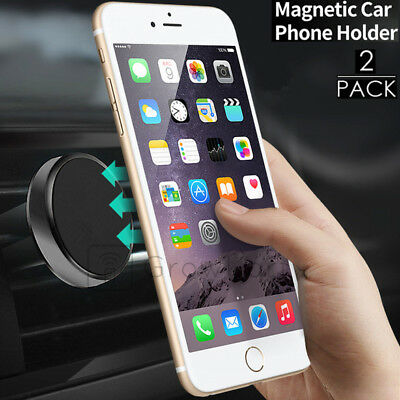 Plus Phone Cradle - Cell Phone Magnetic Air Vent Car Mount Cradle Holder for iPhone X/8/7/6 S Plus