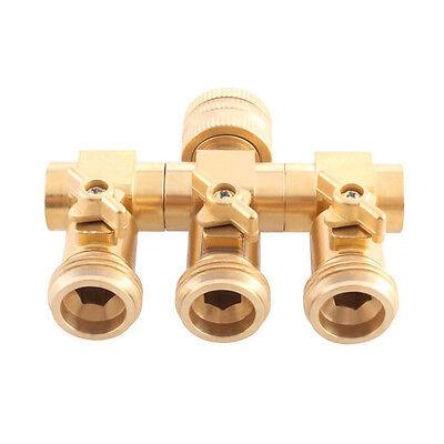 """UPP® Wasserverteiler 3 Wege für 1/2"""" + 3/4""""/Wasserhahn- & Schlauchanschluss 3/4"""""""
