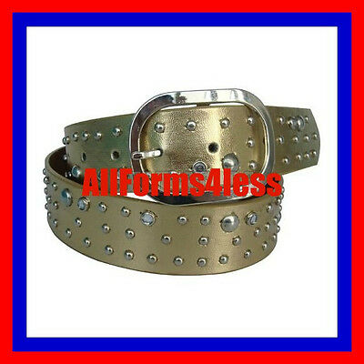NEW SMALL S Gold Silver Buckle Rhinestone Stud Western Cowboy Girl Dress UP Belt - Cowboy Girl Dress Up