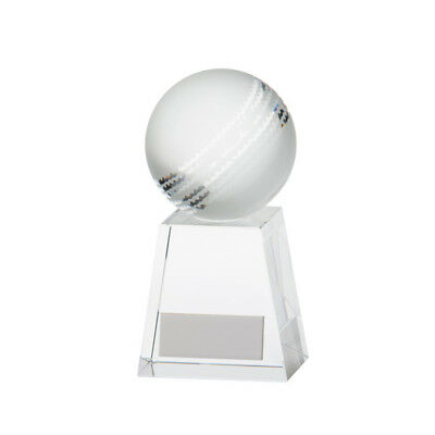 Voyager Cricket Ball Trophy Award Premium Crystal  FREE Engraving 3 sizes ()