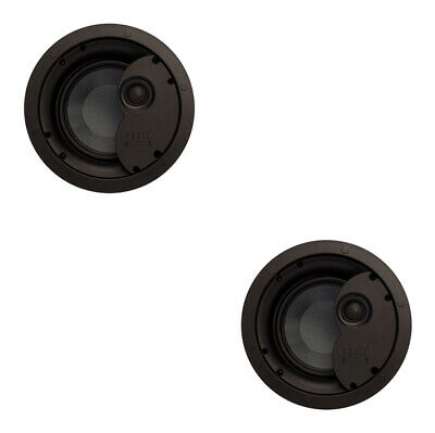"2 x PhaseTech CI6.0X 6.5"" 2-way Ceiling Speaker 8Ohm 120W Home Audio In Wall"