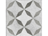 Ceramic Floor Tiles tessalating pattern vintage moroccan style 30cm brand new