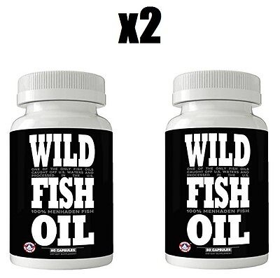 Finest Wild Fish Oil   Omega 3 Dpa Epa Dha Supplement  2 Bottles   1000Mg