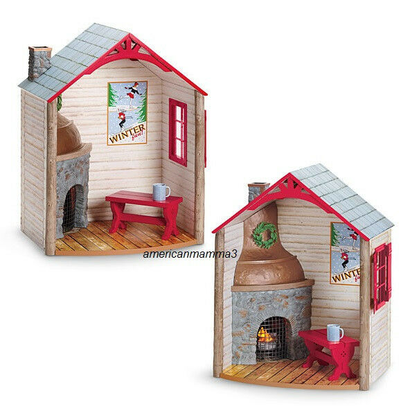 American Girl MYAG Winter Chalet for Dolls Cozy Fireplace Home ...
