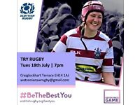 Be The Best You! Try Rugby at Watsonians Ladies!