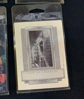 Vintage Antioch Bookplates MAN ON LADDER Self-Stick 2 Pack JDØ-01384