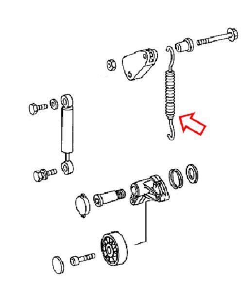 Sprinter Tension Spring for Tensioner Pulley Belt fits