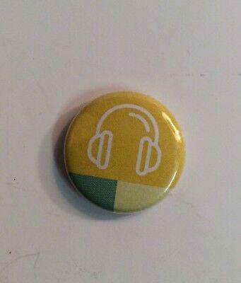 Yellow Headphone Pin Button eBay Open 2017 Las Vegas Conference Swag eBayana