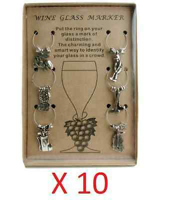 10X Pkg Golf Theme Wine Glass Charm Set of 6 Charms for Glasses Party Gift Idea ](Golf Party Ideas)