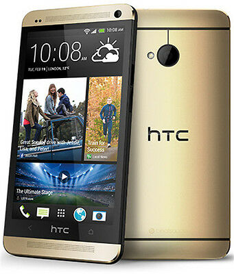 """HTC One M7 Unlocked 4.7"""" Quad-core Android OS Smart Phone 32GB 4MP Gold"""