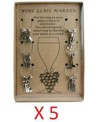 5X Pkg Golf Theme Wine Glass Charm Set of 6 Charms for Glasses Party Gift Idea ](Golf Party Ideas)