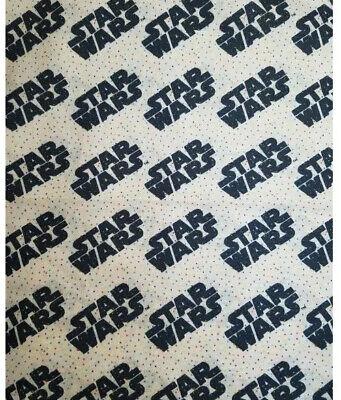 "Star Wars Fabric Logo Tiny Dots 100% Cotton Fat Quarter & 1/4"" Elastic Last One"
