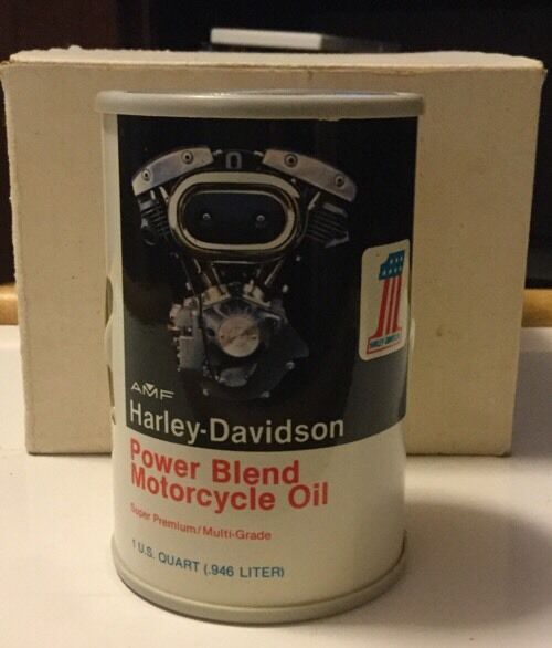 RARE HARLEY DAVIDSON AMF POWER BLEND MOTORCYCLE OIL AM RADIO