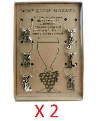 2X Pkg Golf Theme Wine Glass Charm Set of 6 Charms for Glasses Party Gift Idea ](Golf Party Ideas)