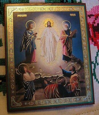 Ukrainian Orthodox Icon Of Jesus Christ The Transfiguration Of The Lord   4 X5