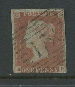 PENNY-RED-IMPERF-Plate-83-RH-VARIETY-USED-in-SCOTLAND-GIRVAN-158-CANCEL
