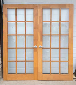 Local deals on windows doors trim in pembroke home for Solid wood french doors
