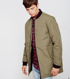 D-struct long line bomber jacket/coat (NEW)