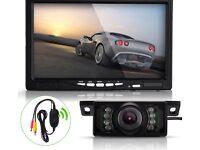 LCD monitor and IR night vision camera car rear view backup video camera