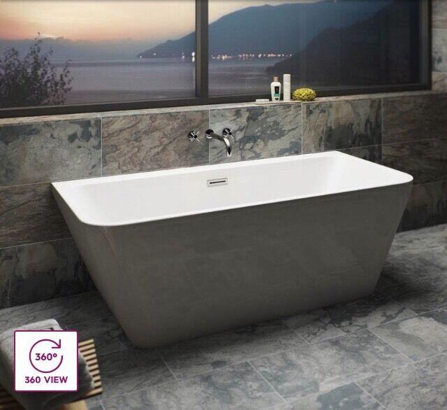 Luxury Bathrooms Norwich verso back to wall luxury bath deep double ended | in norwich