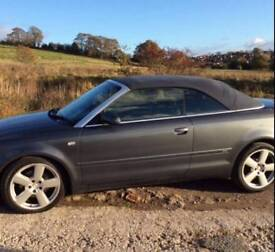 Audi A4 1.8 T S Line Cabriolet 05 Reg in a beautiful Dolphin Grey colour