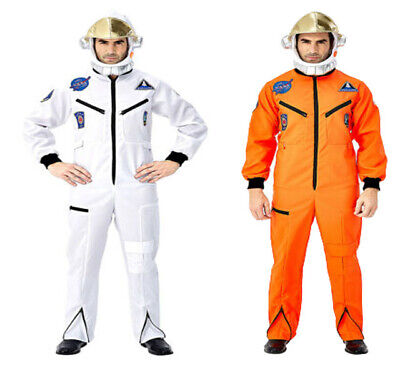 Space Suit Halloween Costume (Halloween Astronaut Space Suit Hat Costume White Orange Suit Halloween)