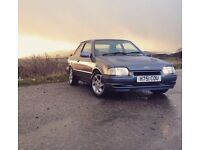 1991 Ford Escort xr3i, Mercury Grey