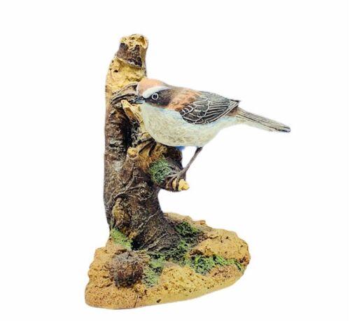 Sparrow bookend figurine sculpture bible verse bird book end vtg Matthew 6:26