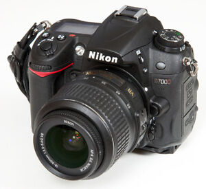 Nikon D7000 with 18-55 VR lens.  Great condition.