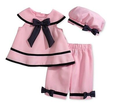 Rare Editions Baby Girls' 3-Piece Pink Dress, Capri & Hat Set,Pink , Size -
