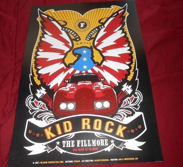 Bill Graham Fillmore Poster Kid Rock 2007 San Francisco F902