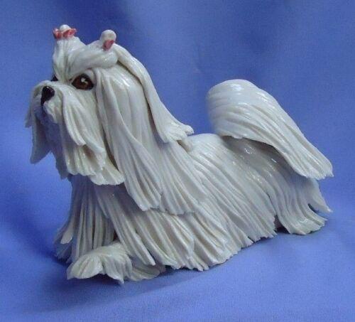 "MALTESE SILKY YORKSHIRE terrier 6"" OOAK Eve Pearce dog 1/1"