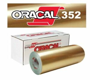 "Oracal 352 chrome metallic gold (both sides) 12"" X 24"" sheet"