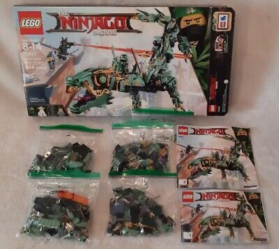 LEGO Set 70612 The Ninjago Movie, Green Ninja Mech Dragon, 544 Pieces, Complete