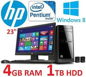 "NEW HP DESKTOP COMPUTER PC BUNDLE - 117971593 - 23"" INTEL PENTIUM G2020T 4GB RAM 1TB HDD WINDOWS 8"