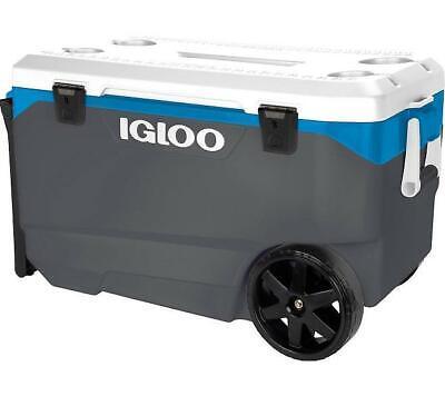 IGLOO LATITUDE 90 PORTABLE COOLER WHEELED 85L CAMPING FISHING COOL BOX ROLLER