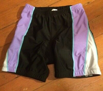 Tyr-tri-shorts (TYR Tri Shorts Unisex Medium Black Purple Athletic Swim Bike Cycling Running)