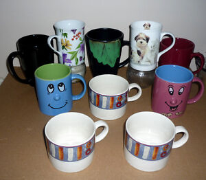 10 Cups .. Assorted .. In excellent condition .. As shown