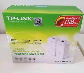 TP-Link AV1200 Powerline Adapter Kit TL-PA8010p NEW
